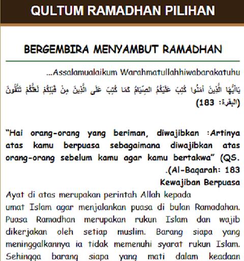 Qultum Pilihan Ramadhan