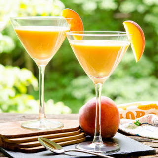 Peaches and Cream Martini