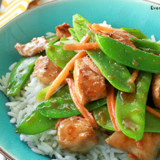 Sautéed Chicken and Snow Peas.