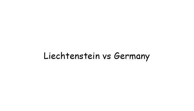 Liechtenstein vs Germany
