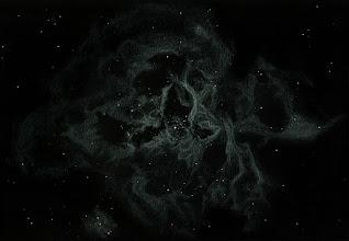 """Photo: NGC 2070, nébuleuse de """"la Tarentule"""", située dans la constellation de la Dorade. C'est une nébuleuse qui fait partie du Grand Nuage de Magellan, donc c'est un objet extra-galactique. T406 à 88X en OIII en août 2018. Depuis l'Afrique du Sud (Vryburg, Savannah Suntours), ciel superbe."""