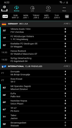 Livescores App - Soccer Sports ss2