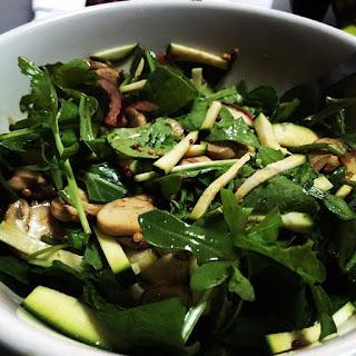 Sautéed Mushroom and Zucchini Salad