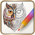Family Coloring book icon