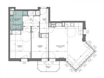 Appartement 3 pièces 67,78 m2