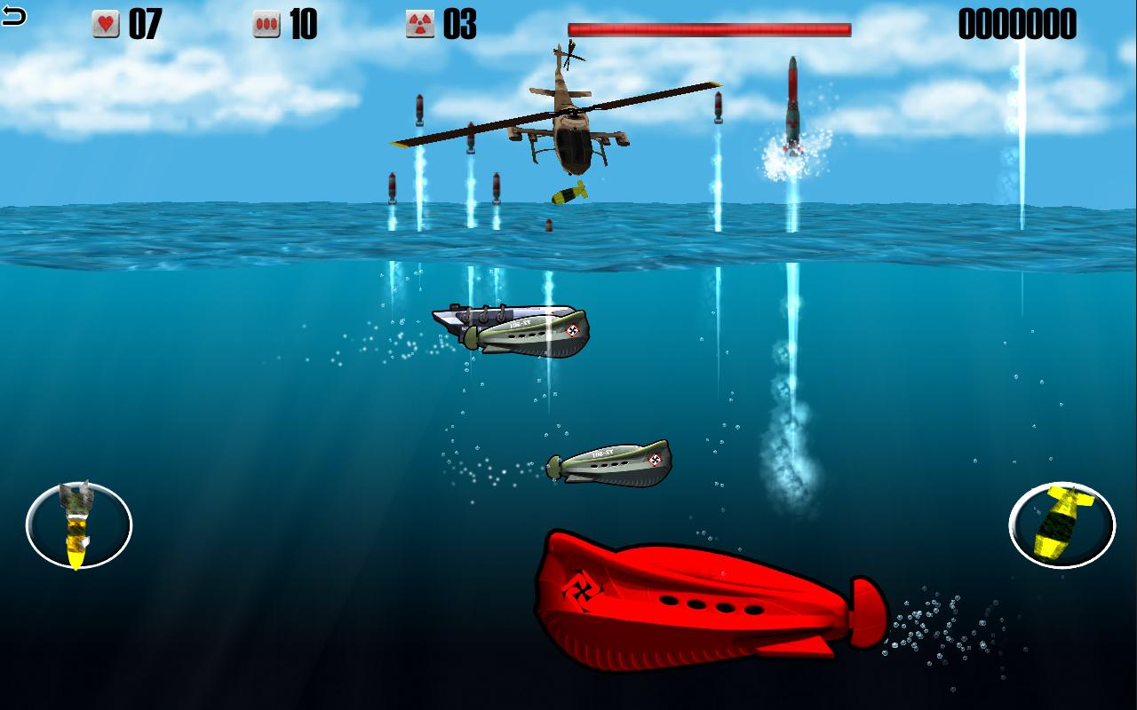 Helicopters vs Submarines- screenshot