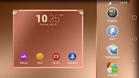 Shiny Copper Theme for Xperia APK screenshot thumbnail 12