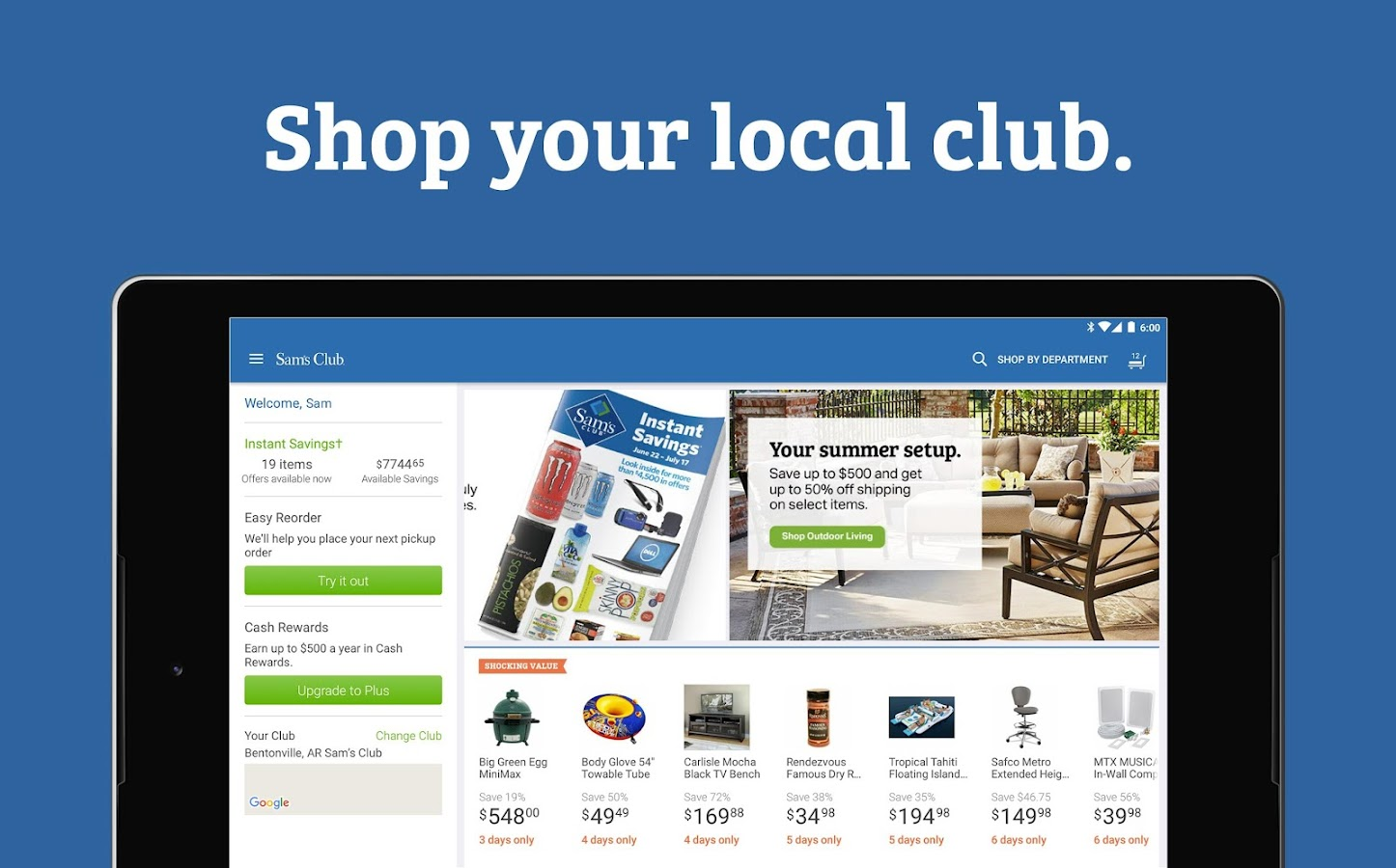 Sam s club credit card payment - Sam S Club Wholesale Shopping Screenshot