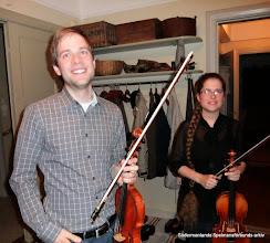 Photo: Markus o Caroline Eriksson i Törnevalla för att intervjua Arne Blomberg 2011-05-17