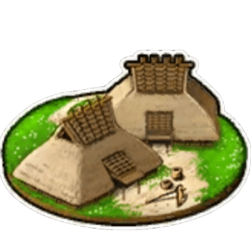 資材採集 集落内で資材を集める