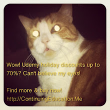 Photo: Wow! Udemy Holiday Discounts up to 70%? Can't believe my eyes! Buy now & Save Big at ContinuingEducation.Me! #intercer #cat #pet #cats #pets #meow #petsofinstagram #beautiful #cute #cutie #animal #picpets #sweet #kitty #kitten #catlovers #learn #education #continue #school #teach #books #programming #learning #college #udemy #holiday #boxingday - via Instagram, http://instagr.am/p/Td0L8IJfiI/