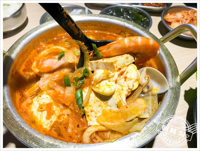 油蔥酥韓國烤肉村菜單海鮮豆腐鍋