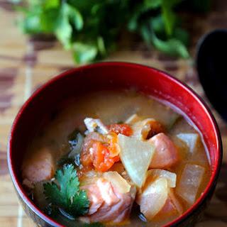 Salmon Sinigang - Filipino Sour Soup.