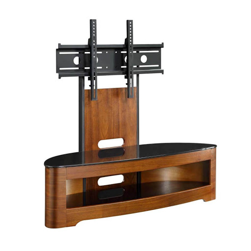 Jual Curve Walnut JF209 Cantilever TV Stand
