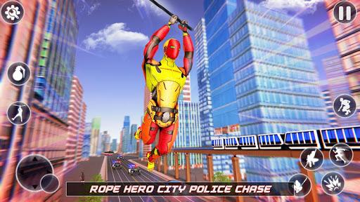 Flying Robot Rope Hero - Vegas Crime City Gangster screenshots 1