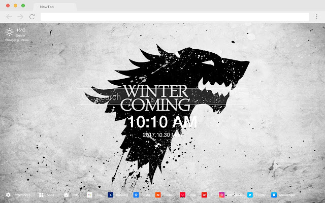 Game of Thrones New Tab TV Drama HD Theme