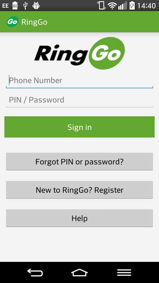 RingGo - pay by phone parking- screenshot