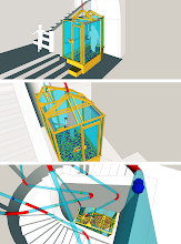 Photo: Early visualizations of the installation