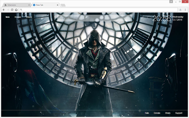 Overview Open Each NewTab With A HD Wallpaper Of Assassins Creed
