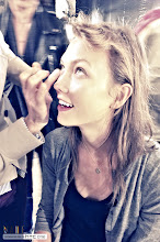Photo: Karlie Kloss backstage at Anthony Vaccarello S/S13