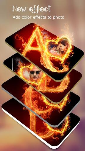 Fire Text Photo Frame  screenshots 7