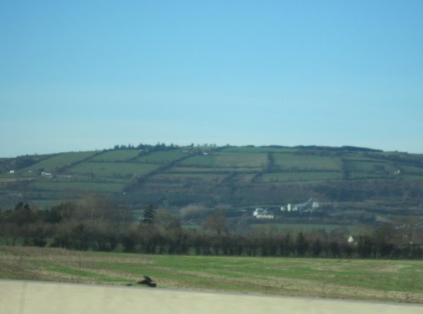 The Irish countryside heading toward Dublin.