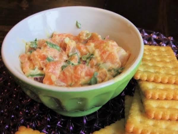 Salmon-cilantro Spread On Melba Rounds Recipe
