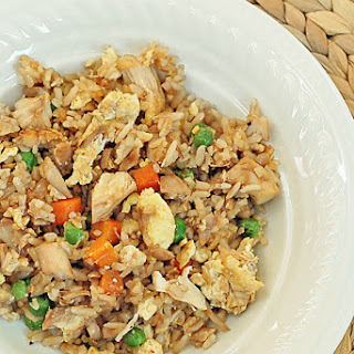 Easy Fried Rice with Chicken.