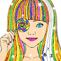 Glitter Color by Number Book: Anti Stress Painting icon