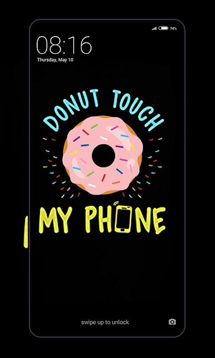 Download Dont Touch My Phone Wallpaper