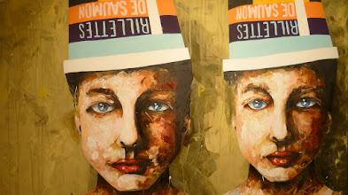 """Photo: Galerie 30Works; Peintre X, """"Saumon au citron"""""""