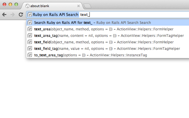 Ruby on Rails API Search