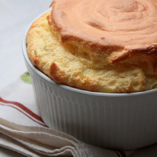 Green Chili and Cheddar Souffle