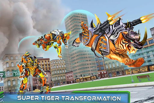 Futuristic Robot Tiger Real Robot Transformation filehippodl screenshot 6