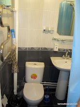Photo: Our bathroom, fit with toilet, sink, and shower in a 4x4 ft space!