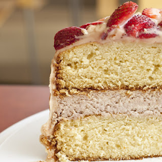 Strawberry Cheesecake Filled Yellow Cake