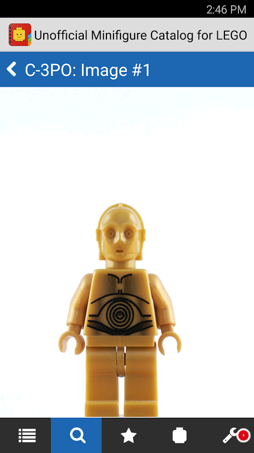 Minifigure Catalog for LEGO- screenshot