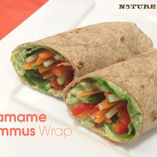 Edamame Hummus Wraps