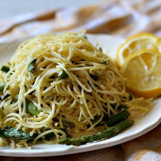 Angel Hair Pasta with Asparagus and Lemon Cream Sauce Recipe