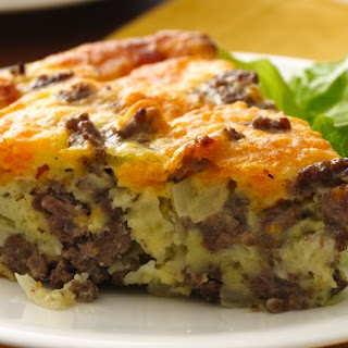 Gluten-Free Impossibly Easy Cheeseburger Pie.