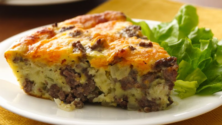 Gluten-Free Impossibly Easy Cheeseburger Pie Recipe