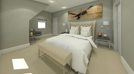 architectural projects in Buckinghamsire & Hertfordshire | Master bed room plan