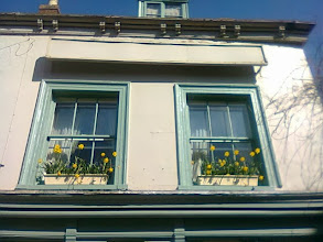 Photo: Carmen's window boxes on Bridge St. visible from street level, but probably more of a welcome sight from her rooms.