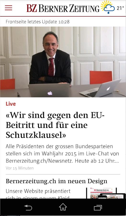Berner Zeitung- screenshot