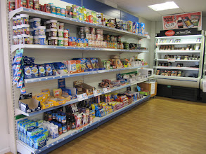Photo: Grocery section, student union, St. John's Campus, University of Worcester