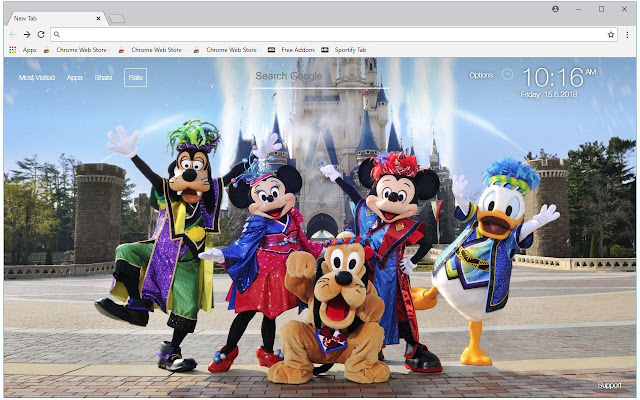 Disneyland HD Wallpaper Disney New Tab Themes