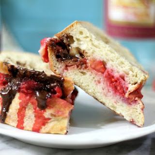Berry Chocolate Panini Sandwich with Wine Reduction Sauce #SundaySupper