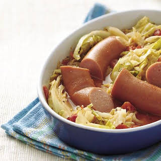 Smoked Sausage and Cabbage Supper.