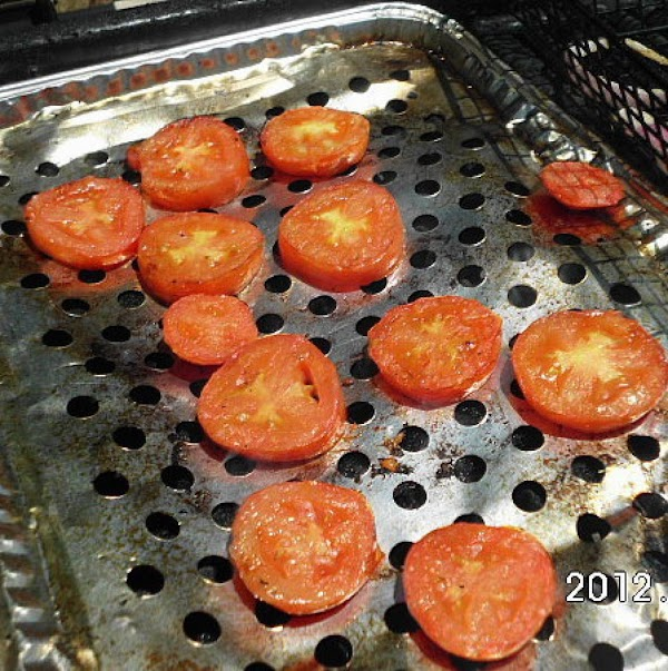 Grill or roast tomatoes.