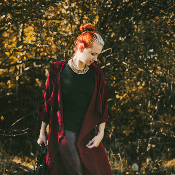 OOTD Antonia: Burgundy Autumn
